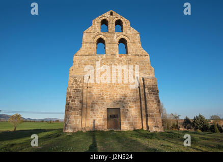 Ancient romanic style hermitage in Burgos province, Castilla y León, Spain. - Stock Photo