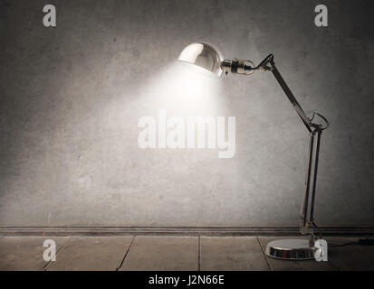 Lamp in empty room - Stock Photo