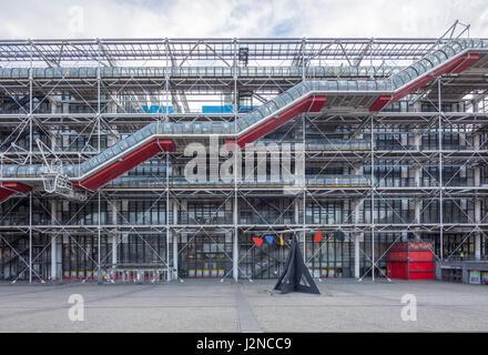 The Pompidou Center, Paris, France - Stock Photo