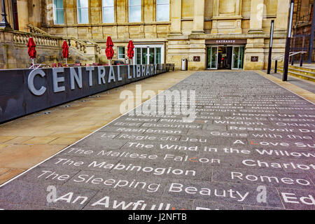 Entrance to Liverpool Central Library, Liverpool, Merseyside, England. - Stock Photo