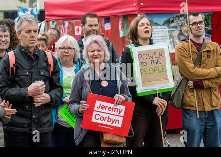 Bristol, UK, 29 April 2017. A Tories Out rally was held on Saturday afternoon in Bristol city centre. It was organised - Stock Photo