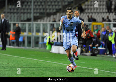 Turin, Italy. 29th April, 2017. Ricardo Alvarez (S) during the match Serie A TIM between Torino FC and Sampdoria. - Stock Photo