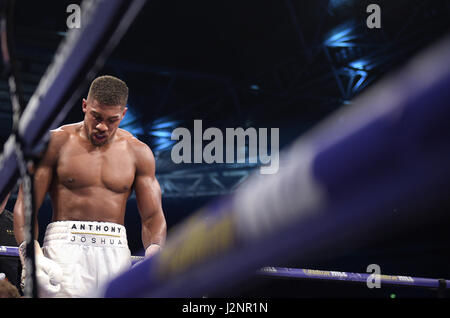 London, UK. 29th Apr, 2017. Anthony Joshua (Great Britain) at the WBA Super Heavyweight Championship in London, - Stock Photo