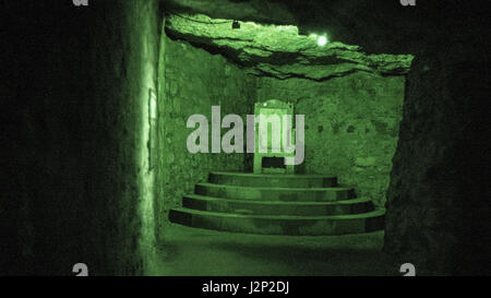 Inside the Budapest labyrinth, where Dracula was said to have been held. - Stock Photo