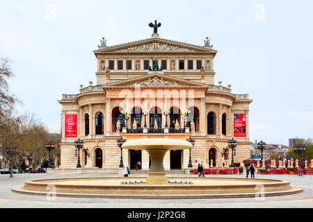 Frankfurt am Main, Germany - April 20, 2013: The Alte Oper (Old Opera) house in Frankfurt am Main - Stock Photo