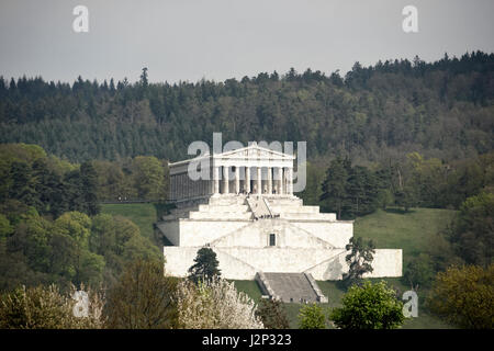 Walhall galt nach germanischem Glauben als eine Art Kriegerparadies.Walhall - die Halle der toten Krieger.Architekt - Stock Photo