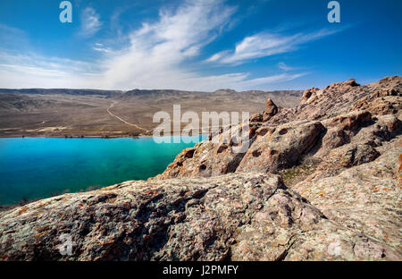Clean river in the rocky mountains of south Kazakhstan - Stock Photo
