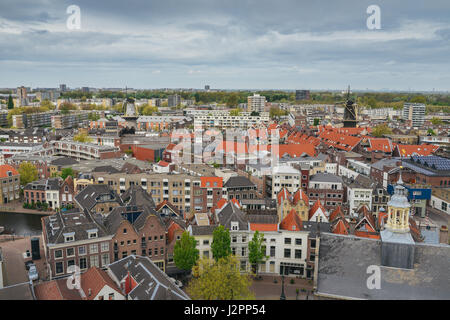 Schiedam, Netherlands aerial view - Stock Photo