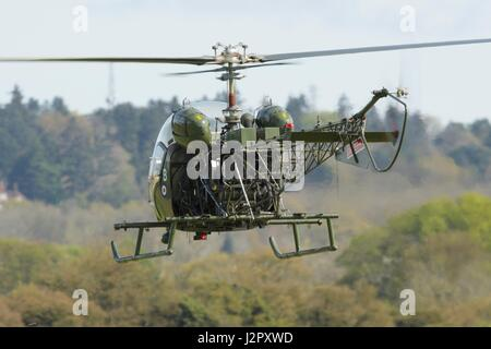 Agusta Bell Sioux helicopter - Stock Photo