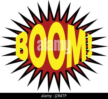 Lettering Boom Bomb Comic Text Sound Effects Vector Bubble Icon Speech Phrase