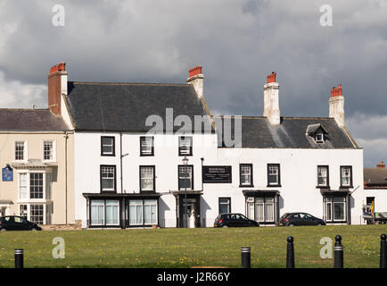 Seaton Hall was a hotel now a residential home and a listed building, Seaton Carew, Hartlepool, England, UK - Stock Photo