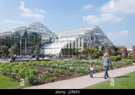 The Glasshouse at The Royal Horticultural Society's garden at Wisley, Wisley, Surrey, England, United Kingdom - Stock Photo