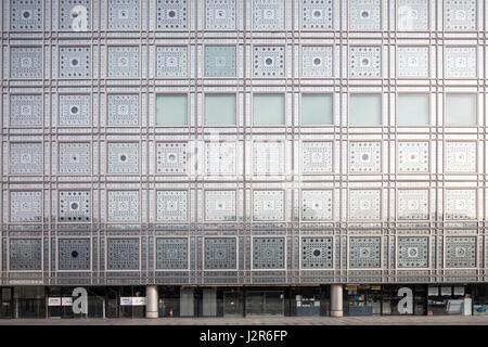 Facade, Institut du monde arabe, Paris, France - Stock Photo