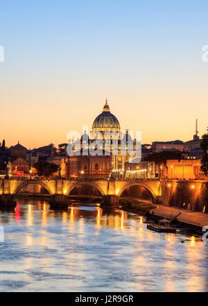 Saint Peters Basilica - Vatican in Rome, Italy - Stock Photo