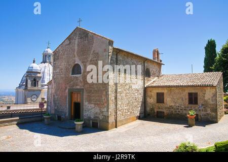 Church of St. Maria della Neve. Montefiascone. Lazio. Italy. - Stock Photo