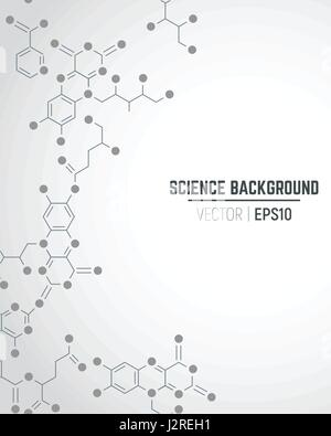 Vector science ant technology concept. Real vitamins formulas connected to seamless pattern. Molecule sign. Lines - Stock Photo
