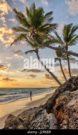 Morning in Punta Cana. - Stock Photo