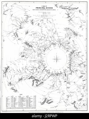 1834 S.D.U.K. Comparative Map or Chart of the World's Great Rivers - Geographicus - ComparativeRivers-sduk-1834 - Stock Photo