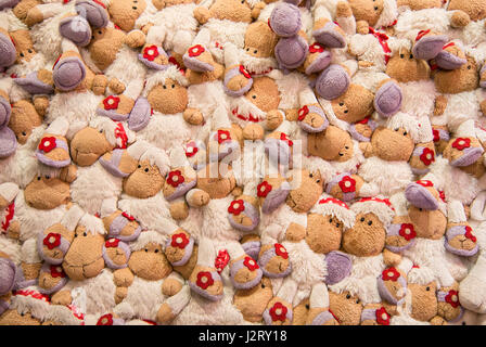 Sheep toys background pattern - Stock Photo