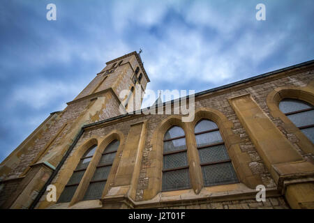 Cathedral of the Sacred Heart in Sarajevo, Bosnia and Herzegovina. This Church is one of the main landmark of Catholicism - Stock Photo