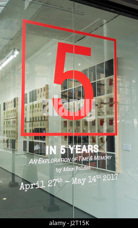 5 in 5 Years, an exploration of time & money by Adam Foldes, an art exhibit