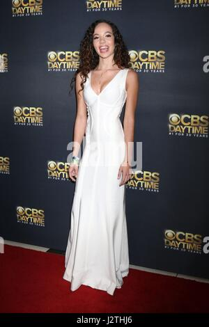 Pasadena, CA. 30th Apr, 2017. Lexie Stevenson at arrivals for CBS Daytime Emmy After Party, Pasadena Conference - Stock Photo