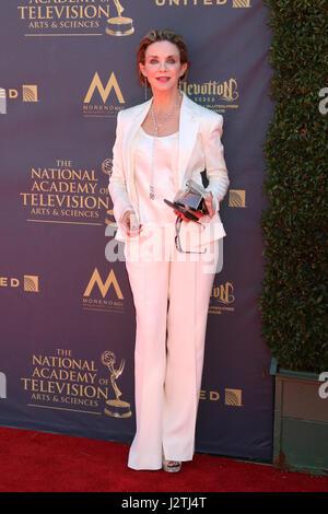 Pasadena, California, USA. 30th Apr, 2017. Judith Chapman at the 44th Daytime Emmy Awards - Arrivals at the Pasadena - Stock Photo