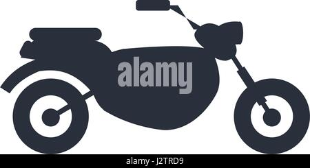 silhouette motorcycle speed transport - Stock Photo