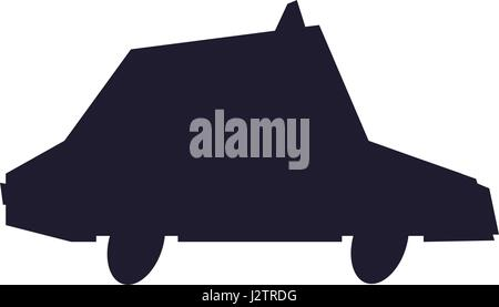 silhouette taxi car vehicle transport image - Stock Photo