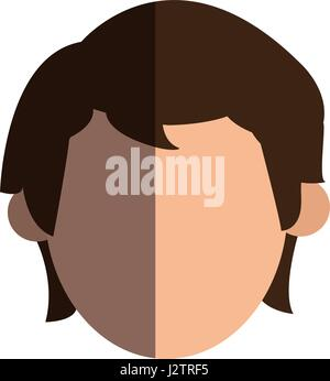 faceless head man people image - Stock Photo