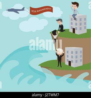 Businessman in risk management. Vector - Stock Photo