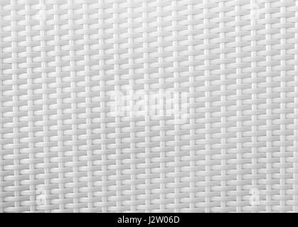 Close up White Backrest of Wicker Chair. - Stock Photo