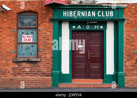 Hibernian Club, exterior, Newry, UK - Stock Photo