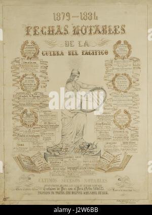 1879-1884 Fechas notables de la Guerra del Pacifico - Stock Photo