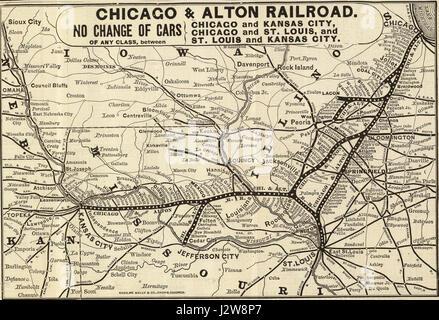 Alton Kansas Map.1884 Chicago Alton Map Only Stock Photo 210361577 Alamy