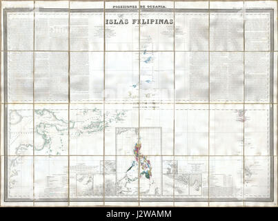 1852 Coello - Morata Case Map of the Philippines No. 3 - Geographicus - Philipines3-morata-1852 - Stock Photo