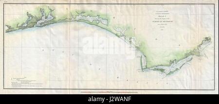 Western Florida Map.8 1853 U S Coast Survey Map Of The Western Florida Panhandle
