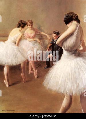 Carrier Belleuse Pierre The Ballet Lesson