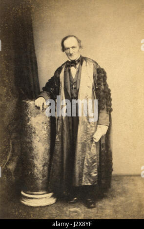 Sir Richard Owen KCB FRS (1804-1892) was an English biologist, comparative anatomist, paleontologist and outspoken - Stock Photo