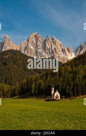 Santa Maddalena Church in South Tyrol region of northern Italy - Stock Photo