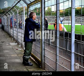 Match day at Krefeld's Grotenburg Stadium - Stock Photo