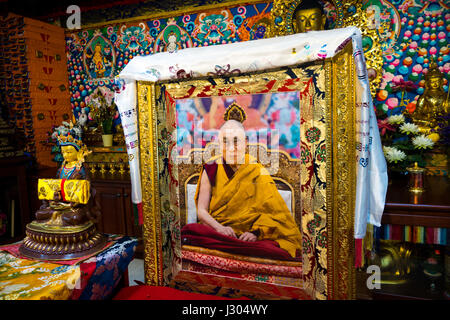 Dedicated to the people of Tibet, The Tibetan Mongolian Buddhist Cultural Center in Bloomington, Indiana, offers - Stock Photo