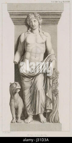 Bacchus with a Tiger See the Bacchae of Euripides - Stuart James & Revett Nicholas - 1794 - Stock Photo