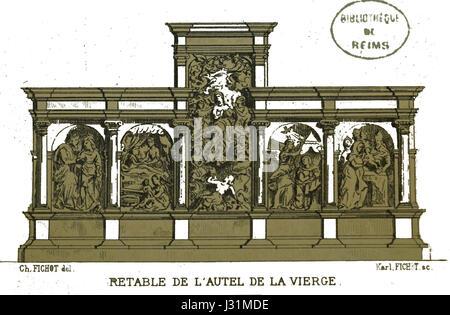 Chapelle saint luc Retable Fichot 00678 - Stock Photo