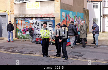Brighton, UK. 2nd May, 2017. Police outside the University of Brighton's former Circus Street building today where - Stock Photo
