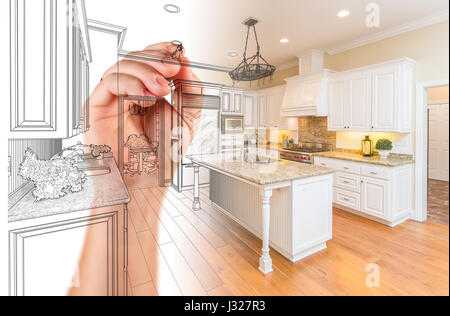 custom drawing designs hand drawing custom kitchen design with gradation revealing stock