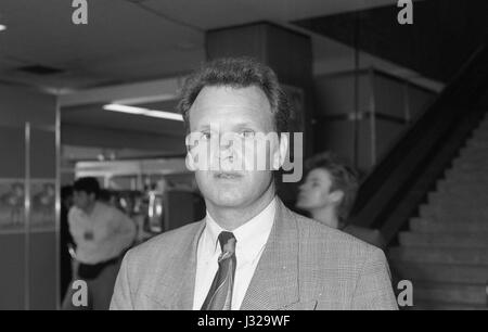 Mike Watson, Labour party Member of Parliament for Glasgow Central, attends the party conference in Brighton, England - Stock Photo