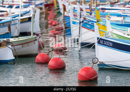 Colourful wooden fishing boats in lingua salina the for Nice fishing boats