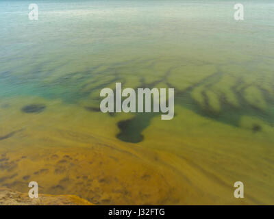 Image from the area known as 'The Cove,' Pictured Rocks National Lakeshore, Michigan, USA. - Stock Photo