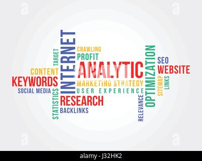 Online Marketing Strategy Word Cloud - Stock Photo